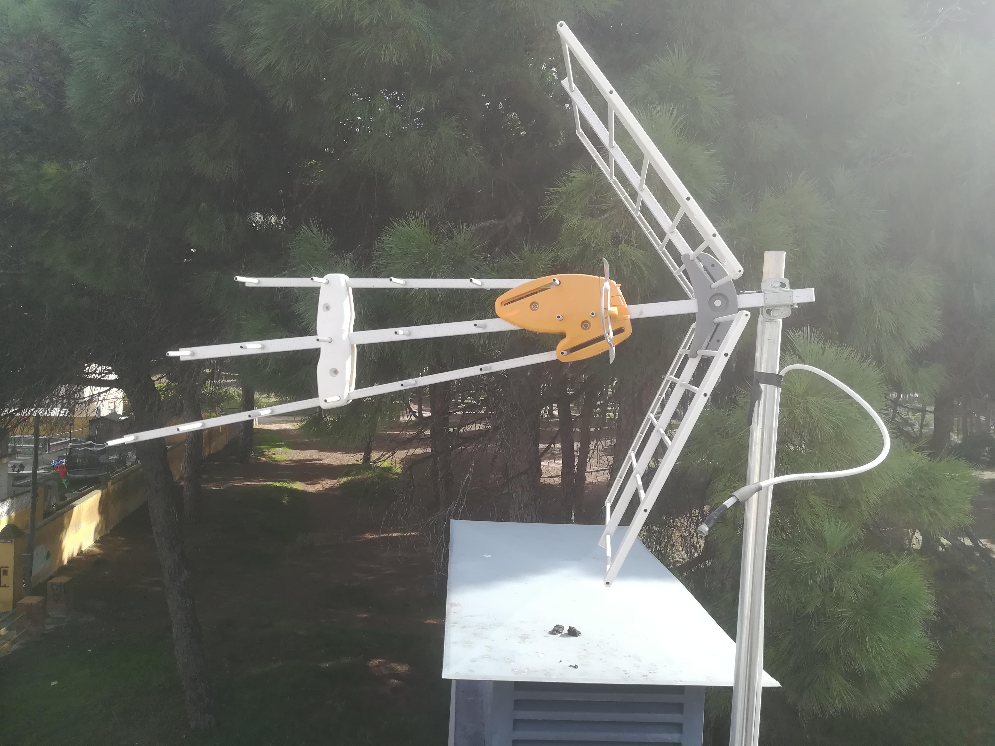 Antena mal montada