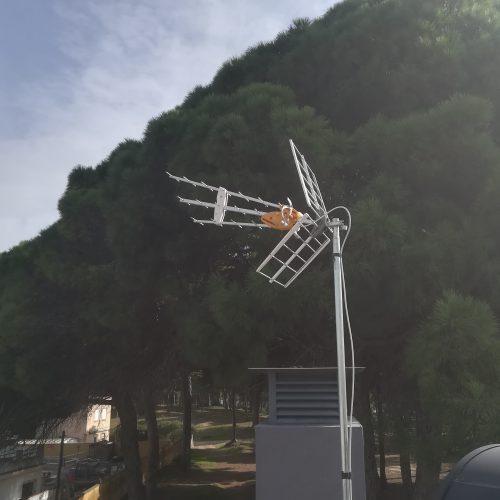 Antena montada correctamente
