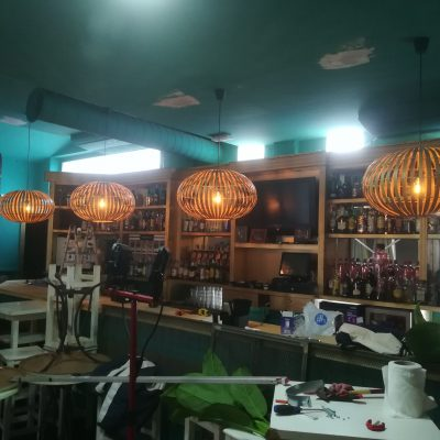 Lamparas Portebello Pub en La Barrosa